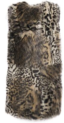 Stella McCartney Leopard-print Faux Fur Vest