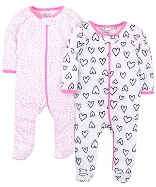 N. Little Star Organic Sleep 'N Play, 2-pack (Baby Girls)