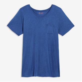 Joe Fresh Women+ Pocket Tee, Blue Mix (Size 2X)