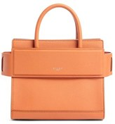 Givenchy Mini Horizon Grained Calfskin Leather Tote - Blue