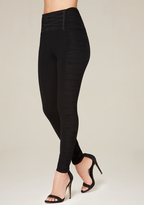 Bebe Petite Ruched Leggings