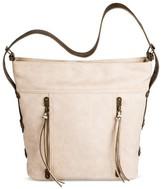 Bueno Women's Nubuck Hobo Handbag - Chalk White