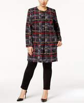 Nine West Plus Size Four-Button Topper Jacket