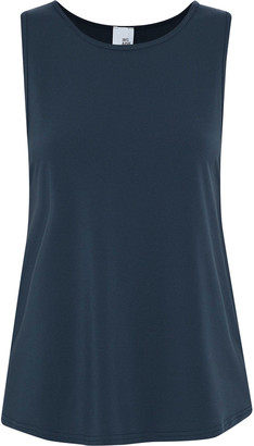 Iris & Ink Skylar Metallic-trimmed Stretch-jersey Tank