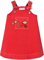 Sonia Rykiel Red Applique Dungaree Dress