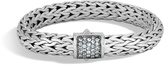 John Hardy Women's Classic Chain 10.5MM Bracelet in Sterling Silver with Black Sapphire