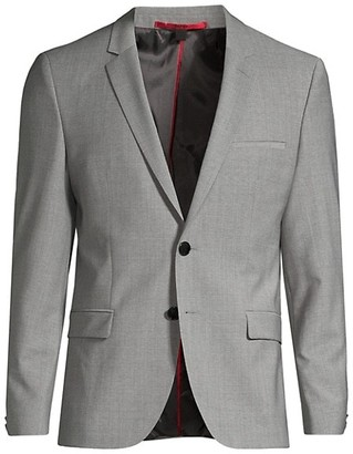 HUGO BOSS Arti Extra Slim-Fit Virgin Wool-Blend Single-Breasted Jacket