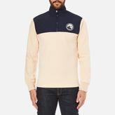 Billionaire Boys Club Men's HalfZip Funnel Sweatshirt - Beige/Navy