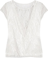 L'Agence Mila embroidered lace top