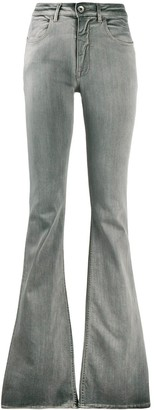 Rick Owens Flared Light Wash Jeans