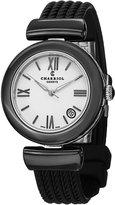 Charriol Women's AE33CB565004 Ael Analog Display Swiss Quartz Black Watch