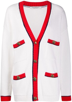 Philosophy di Lorenzo Serafini Knitted Long Sleeve Cardigan