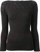 Jean Paul Gaultier fitted ribbed jumper