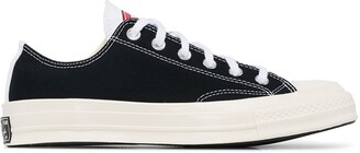 Converse White Chuck 70 Leo canvas panelled low top sneakers