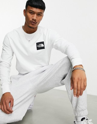 The North Face Boruda long sleeve t-shirt in white