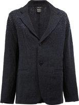 Avant Toi distressed linen blazer - women - Linen/Flax - XS