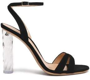 Gianvito Rossi Shyla Suede And Perspex Sandals