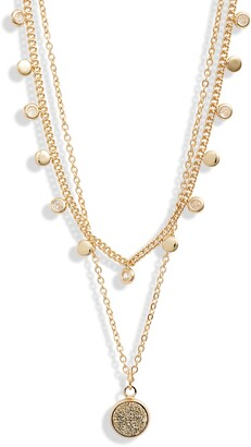 Halogen Tiered Curb Chain Layered Necklace