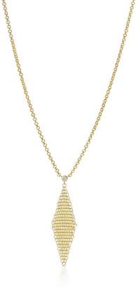 Tiffany & Co. Elsa Peretti Mesh pendant in 18k gold with a diamond