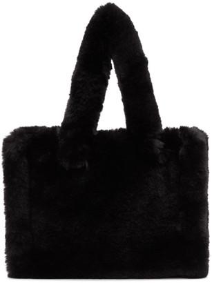 Stand Studio Black Faux-Fur Small Liz Tote