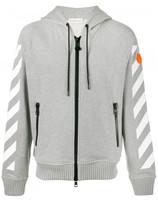 Moncler printed zip-up hoodie
