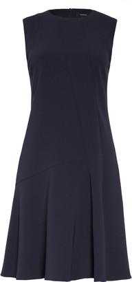 Theory Asymmetrical Drape Crepe Dress