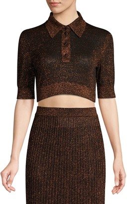 Michael Kors Cropped Metallic Polo