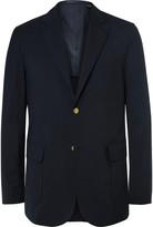 Beams Blue Slim-Fit Wool-Blend CORDURA Blazer