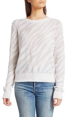 Rag & Bone Germain Zebra Crewneck Sweater