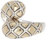 Effy Sterling Silver & 18K Yellow Gold Diamond Wrap Ring - Size 7 - 0.09 ctw