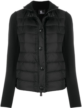 MONCLER GRENOBLE Knitted Jacket With Padded Detail