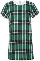 Woven Stretch Plaid Shirt Dress