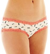 JCPenney Flirtitude® Lace-Trim Hipster Panties