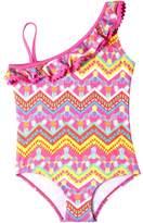Pink Platinum Pineapple One-Piece Swimsuit - Little Girls'