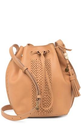 The Sak Naturals Collection Leather Drawstring Bag