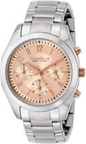 Bulova Caravelle New York Women's 45L143 Analog Display Japanese Quartz White Watch