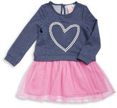 Design History Girls 2-6x Sparkle Heart Dress