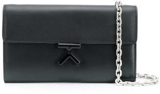 Kenzo K fastening cross body bag with chain shoulder strap