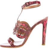 Alaia Lizard Multistrap Sandals