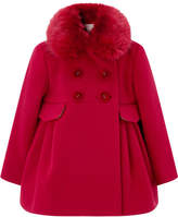 Monsoon Baby Ruthy Red Faux Fur Coat