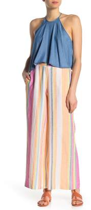 ECI Linen Blend Tassel Striped Pants