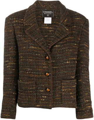 Chanel Pre Owned 1998 Straight Woven Jacket