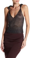 Wow Couture Metallic Knit Crop Top