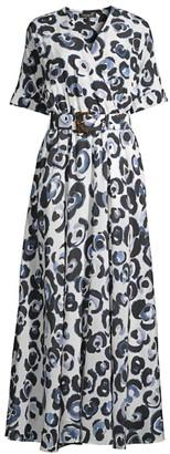 Lafayette 148 New York Agneta Belted Silk Dress