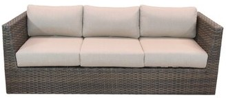 Highland Dunes Cribbs Patio Sofa with Sunbrella Cushions