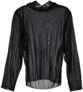 G.V.G.V. sheer jersey high neck top - women - Nylon - 34