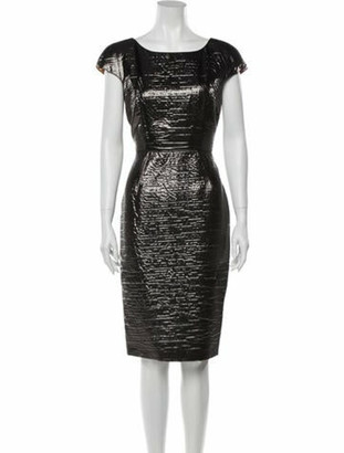 Dolce & Gabbana Scoop Neck Knee-Length Dress Silver