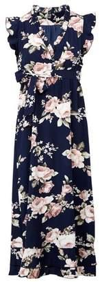 Dorothy Perkins Womens *Izabel London Floral Print Tie Waist Dress