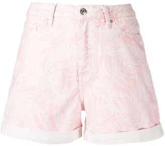 Tommy Hilfiger Botanical-Print Denim Shorts