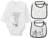 Little Marc Jacobs bunny & owl print body - kids - Cotton/Spandex/Elastane - 1 mth